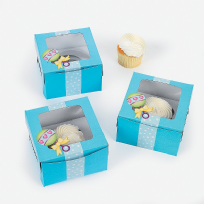 Blue Baby Shower Cupcake Boxes (12)